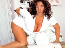 Nurse Bigger in size than average Tits