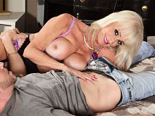 Leah's first movie fuck is with a youthful stud